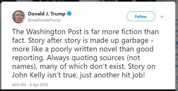 Trump tweet media