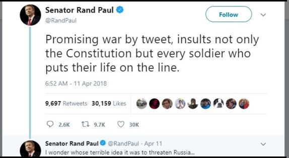 Rand Paul tweet