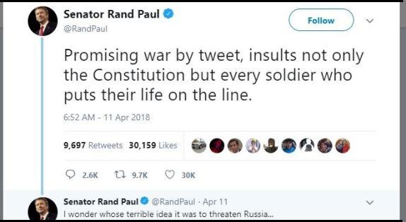 Rand Paul tweet