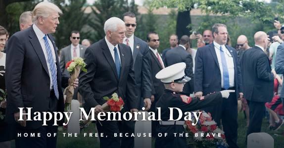 Trump Memorial Day