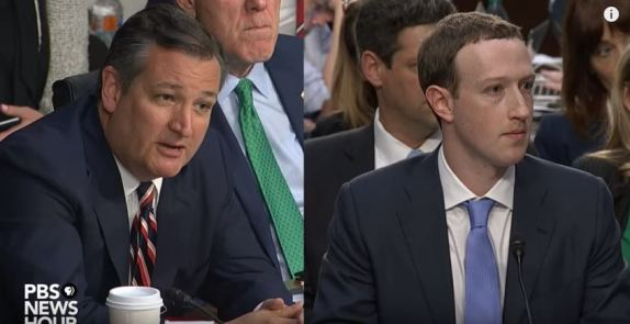 Ted Cruz Mark Zuckerberg