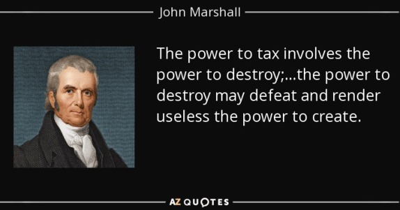 Image result for power to tax includes power to destroy