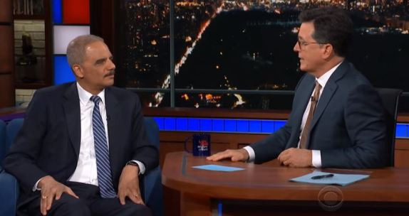 Eric Holder Stephen Colbert