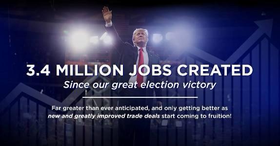 Trump on jobs created