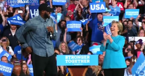 LeBron James Crooked Hillary