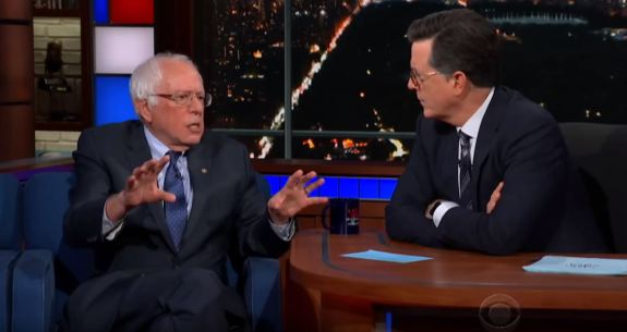Bernie and Colbert