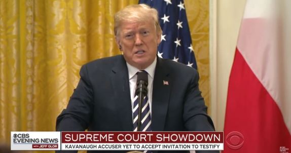Trump on Court showdown
