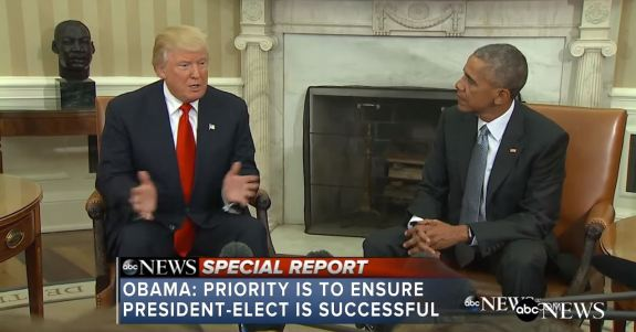 Trump and Obama after election
